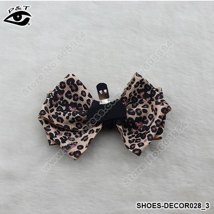 1 Paare/los Leopard Schuh Decor Clips Bogen Clip Für Hochzeit Schuhe Haar Jewerry 8,8x6 Cm Kostenloser Versand