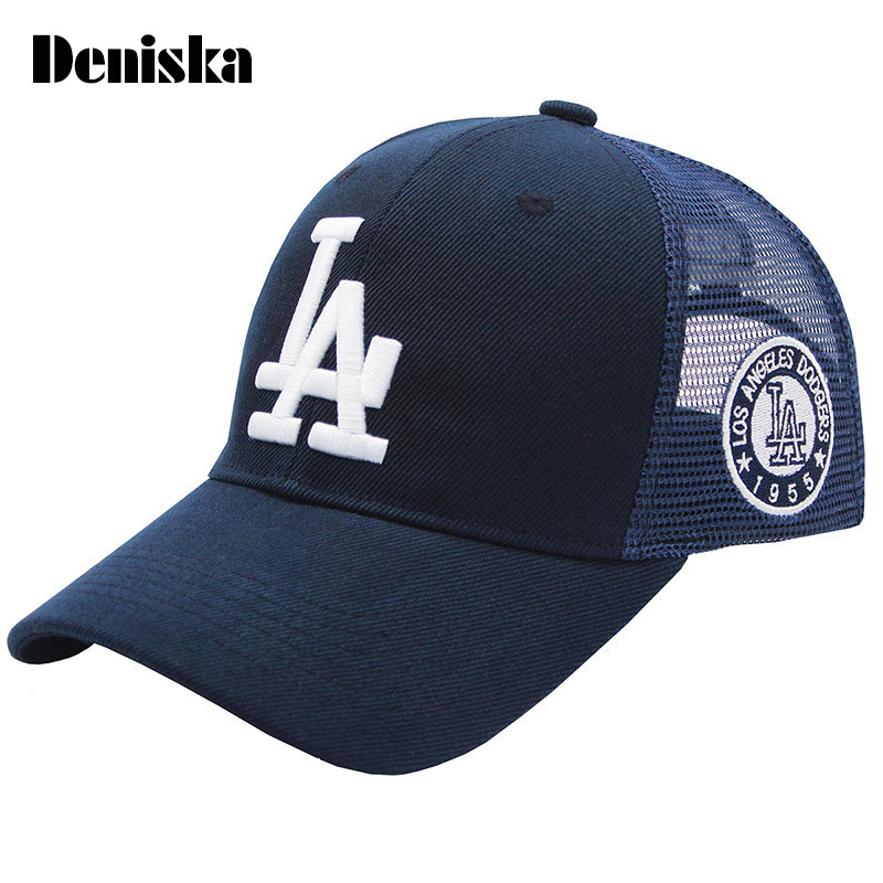 DENISKA 2017 New Brand high quality leisure snapback hat men women caps baseball cap dad hat LA net cap