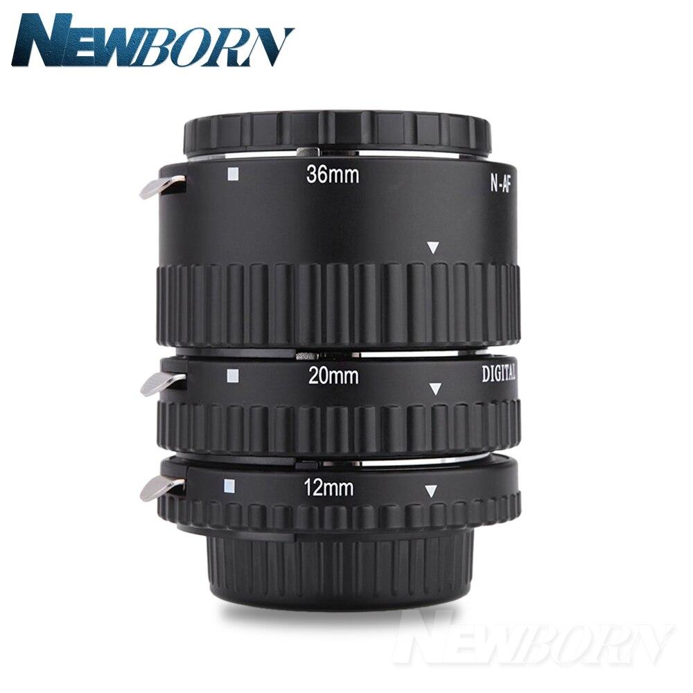 Meike Auto Focus Métal AF Macro Extension Tube Set pour Nikon D7100 D7000 D5100 D5300 D3100 D800 D750 D600 D90 D80 DSLR caméra
