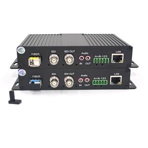 Image 3 - Convertidores de medios ópticos de fibra HD SDI de alta calidad, Video/Audio/Ethernet, transmisor y grabador para SDI CCTV,LC