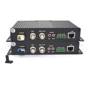 Image 3 - Yüksek Kaliteli HD SDI Video/Ses/Ethernet Fiber Optik Medya Dönüştürücüler Verici ve Alıcısı SDI CCTV, LC