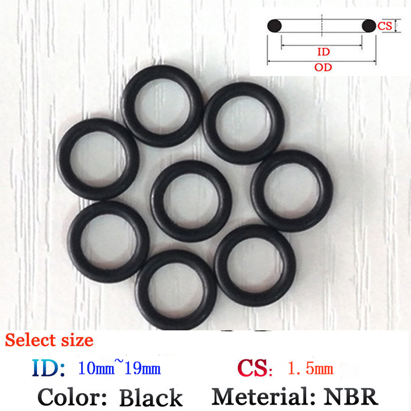 US $0 66 23% OFF|CS 1 5*10mm Rubber O Ring 10pcs Washer Seals Plastic  gasket Silicone ring film oil and water seal gasket viton NBR material  Ring-in