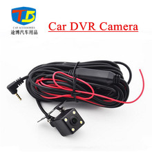 2.5/3.5mm Jack Port 4 Pin Night Vision Car DVR Rear View Camera Parking Camera 170 Degree Waterproof  with 4 Led Light