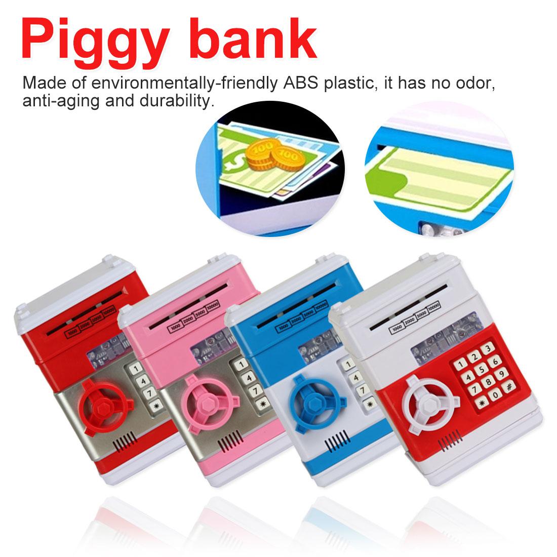ATM mot de passe tirelire dépôt automatique billet de banque cadeau pour enfants tirelire électronique pièces de monnaie économisant