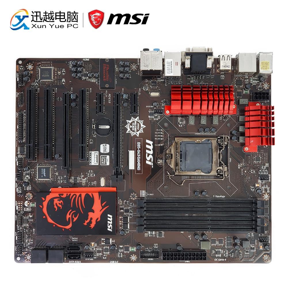 MSI B85-G43 GAMING Desktop Motherboard B85 Socket LGA 1150 i3 i5 i7 DDR3 32G SATA3 USB3.0 Suport HIFI ATX цена 2017