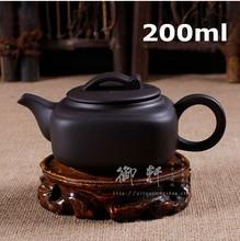 Förderung! authentische Teekanne yixing Clay Teekanne Handgemachte Wasserkocher 200 ml Tee-Set Chinesische Zeremonie Geschenk 200 ml Infuser Kostenloser Versand