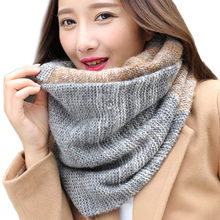 Mode Frauen Warm Knit Neck Kreis Gugel Snood Multi-zweck Schal Winter Schal Dicke Warme Schals Quaste Weiblichen Schals wrap A9(China)