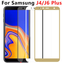 Tempered Glass On For Samsung Galaxy j6 j4 plus Protective Glas for samsung j6 film j 4 6 Screen Protector j6plus j4plus Samsun(China)