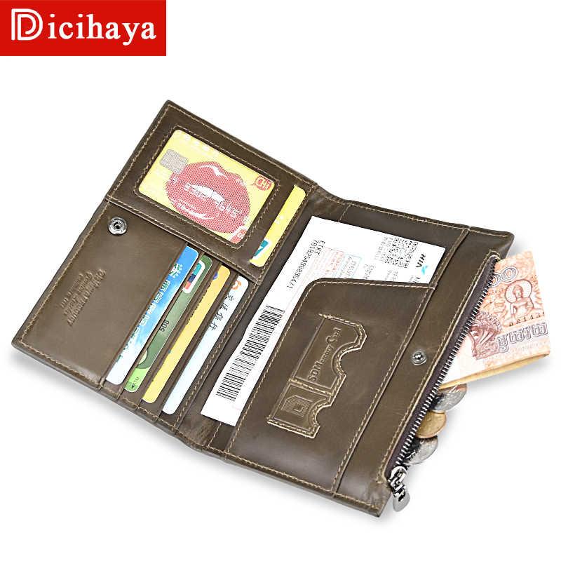 728a2d509cef DICIHAYA Vintage Natural Genuine Leather Men Wallet passport holder ID  Credit Card Ticket Travel Genuine Leather Passport Case