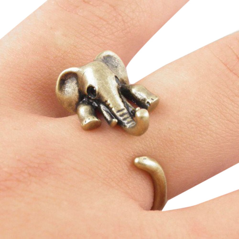 New Vintage Boho Chic Mid Finger Elephant Rings