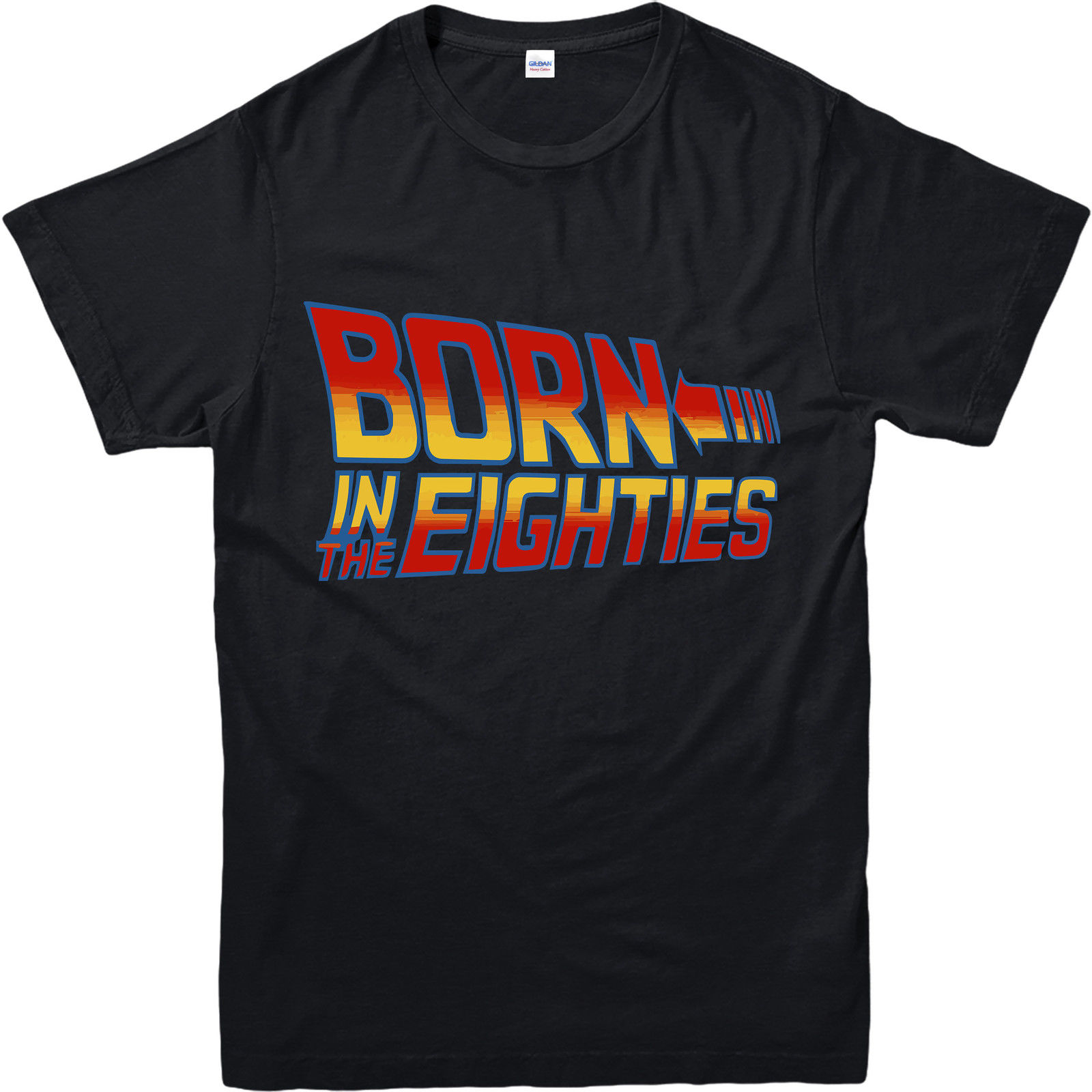 Back To The Future T-Shirt, Born In The Eighties Design T Shirt Inspired Novelty Tops Short Sleeve Tees 2017 Female T Shirt