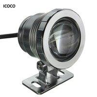 ICOCO Waterdichte 10 W RGB LED Light Tuin Fontein Zwembad Vijver Spotlight Super Heldere Onderwater Licht Lamp met Afstandsbediening