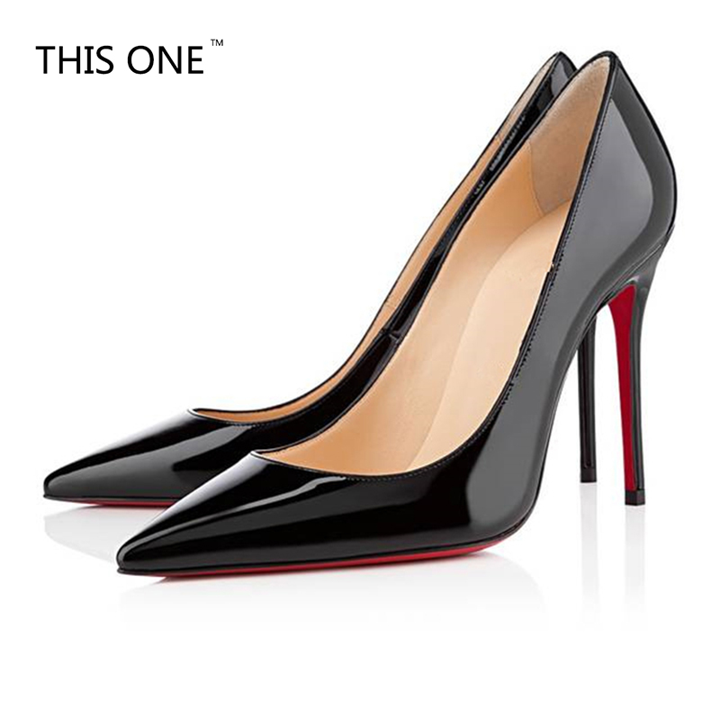 2018 Brand Shoes Woman High Heels Pumps Nude High Heels 12CM Women Shoes High Heels Wedding Shoes Pumps Black Nude Shoes Heels