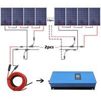 2000 Вт Солнечный Системы комплект: 20*100 Вт Панели солнечные 2000 Вт сетки галстук чистый синус инвертор солнечной энергии Системы для дома