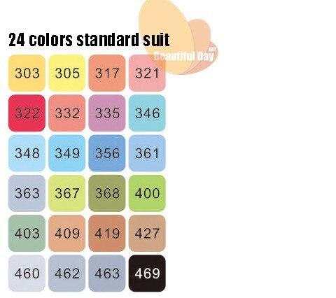 permanente marcadores de 48 colos terno com caso