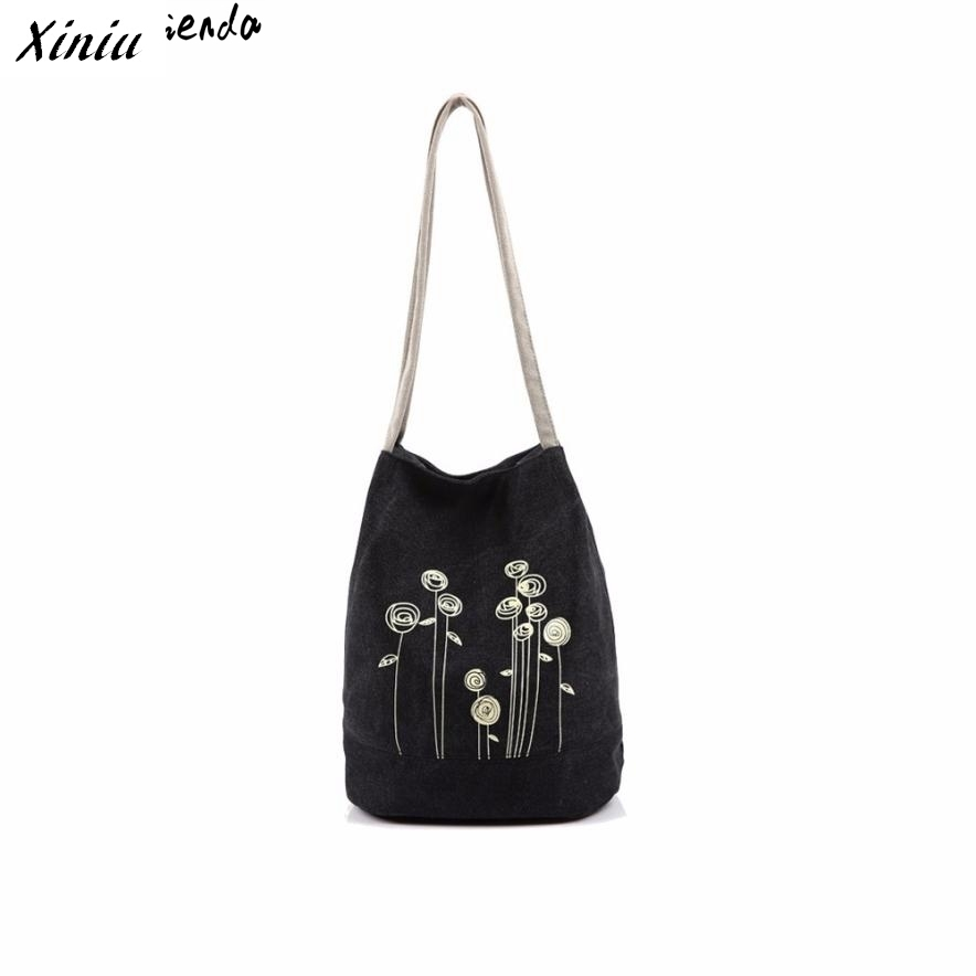 Xiniu handbag Women Bag Dandelion Printing Double Strap Shoulder Bags Canvas Casual Tote Bolsas Feminina drop shipping#yl