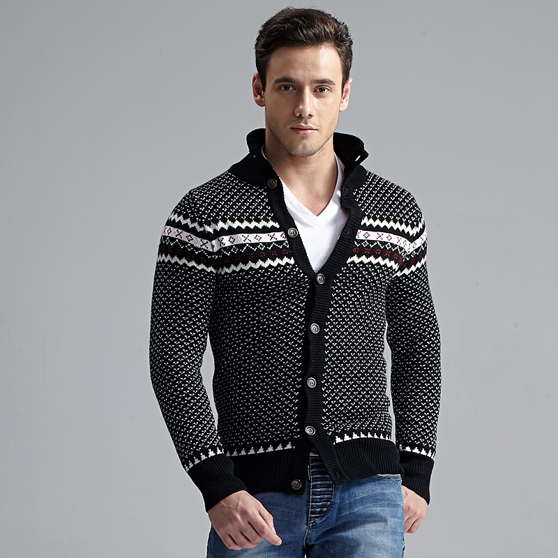 2016 Warm Thick Cashmere Sweaters Men Autumn and Winter CardiganTops ...