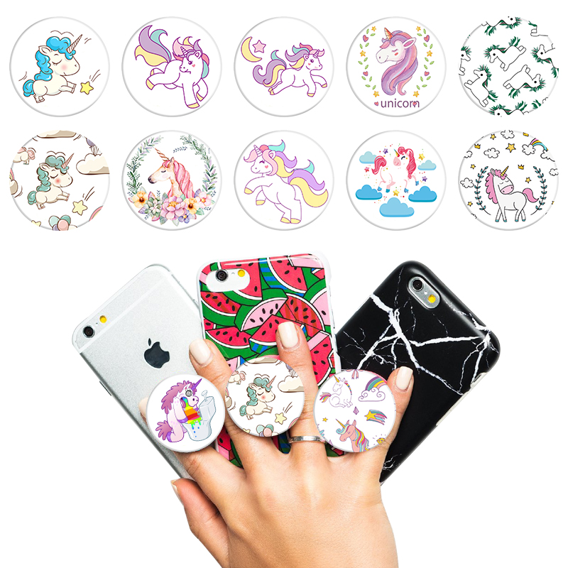 Mobile Phone Holders & Stands Responsible Uvr 360 Degree Unicorn Rainbow Horse Finger Ring Smartphone Stand Holder Mobile Phone Holder For Iphone Huawei All Phone