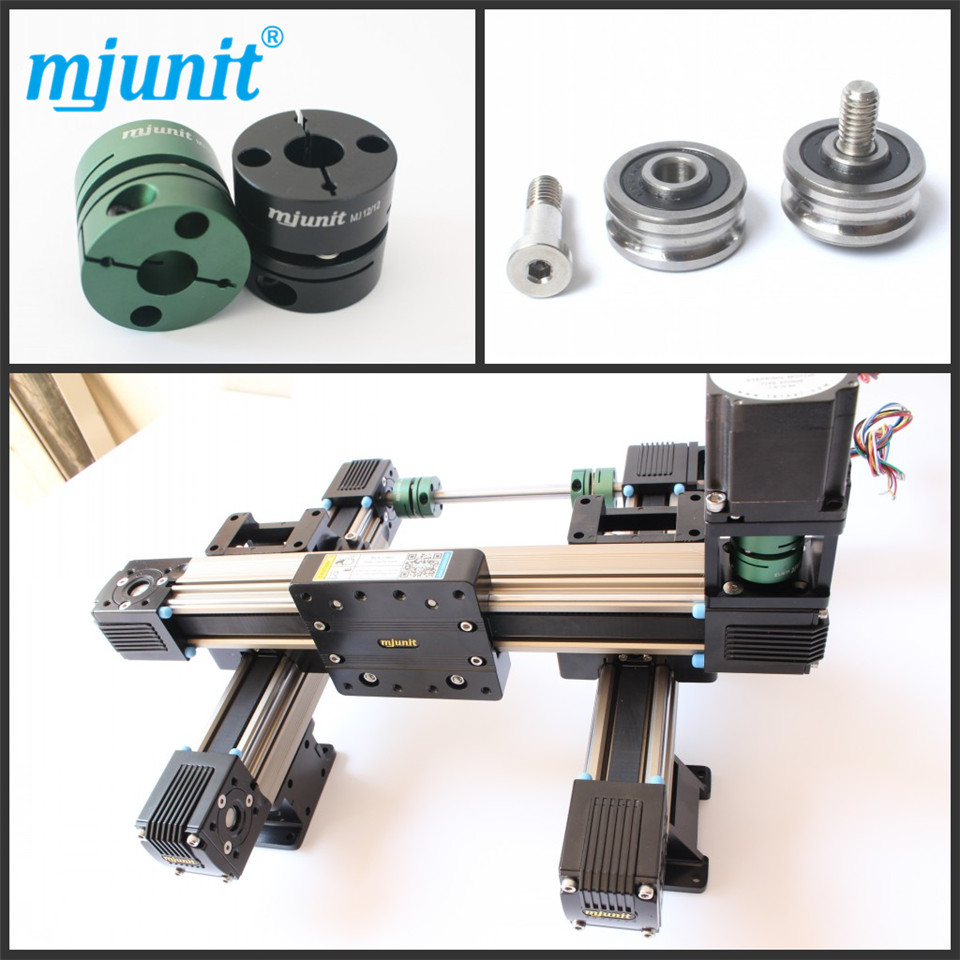MJUNIT xyz made in china High rigidity Roller Type wheel linear rail/linear guide/linear guideway ball linear rail guide roller shaft guideway toothed belt driven