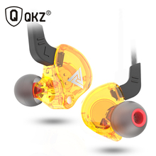 سماعة أذن QKZ AK6 ATE ATR HD9 من النحاس, سماعات أذن رياضية HiFi للجري مع ميكروفون سماعة موسيقى