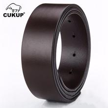 CUKUP 100% Full Grain Genuine Leather for Pin & Smooth Belts Men Strap Vintage 38mm 33mm Width Without Buckles NCK626