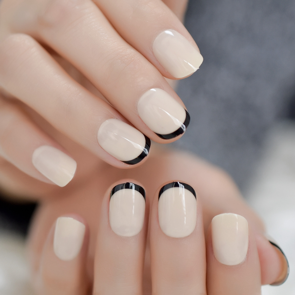 ivory short french nail
