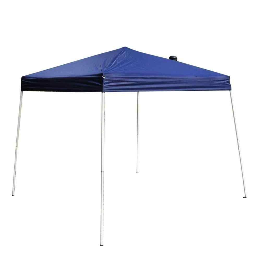 2.5 × 2.5m ポータブルホームオーニング防水折りたたみテントブルー屋外のキャンプ防水ガーデン日よけビーチテントアクセサリーツール