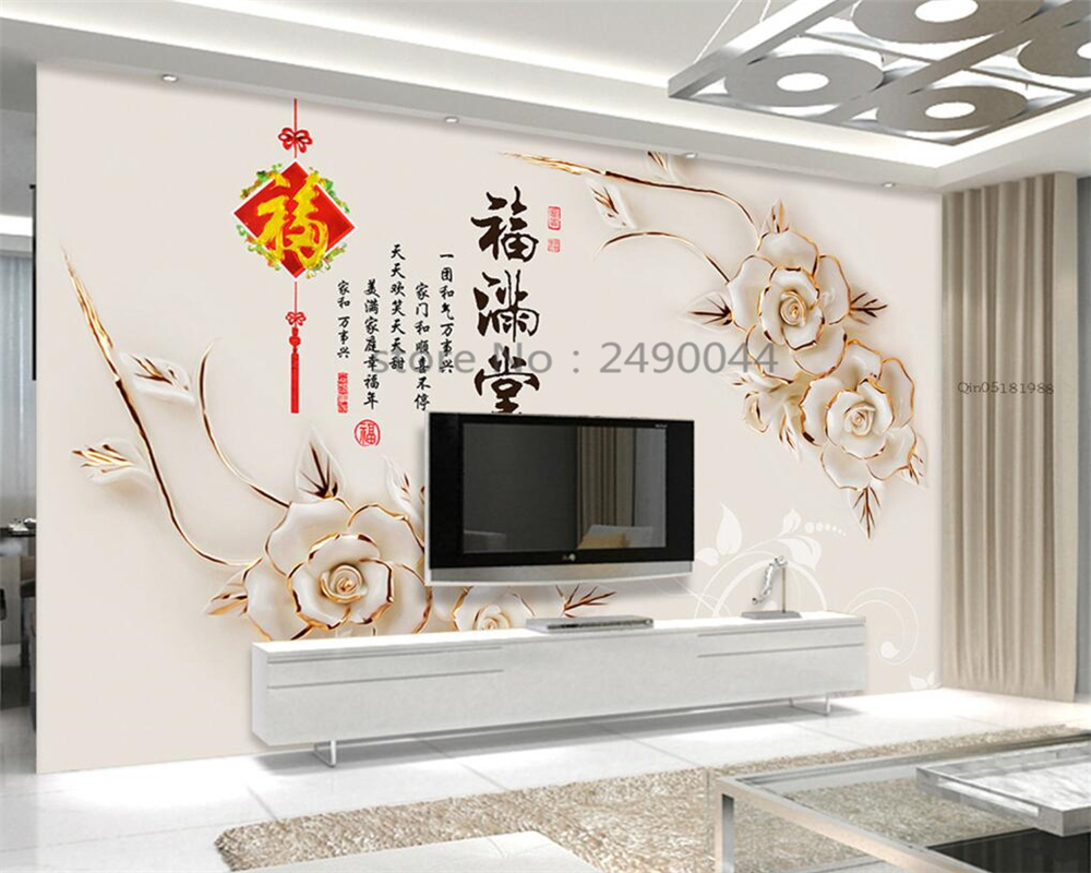 Aliexpress.com : Buy Beibehang 3d Wallpaper Embossed Magnolia Flower  Decoration 3D Living Room Background 3D Wallpaper Mural Wallpaper For Walls  3 D From ... Part 52