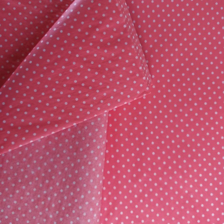 9d826d3b2ad0 ᗐ500 Feuilles Chaude Rouge Base Blanc Pois Emballage Papier de soie ...