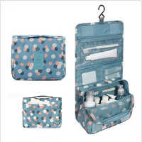 Unisex Print Hanging Toiletry Clear Travel Storage BAG Cosmetic Carry Toiletry Organizer For Traveling Bathroom Portable