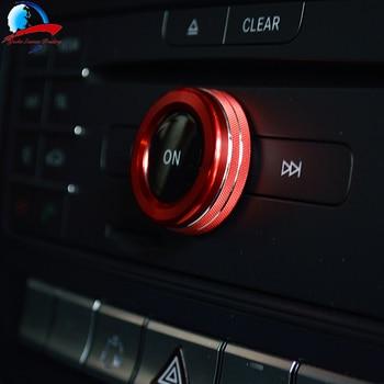 Diseño de coche botón de ajuste de volumen embellecedor decorativo cubierta Interior molduras para Benz A B E (w212) GLK GLA CLA GLE ML clase GL