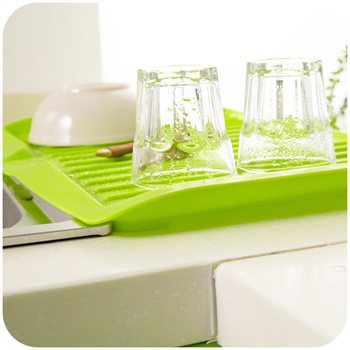 Nieuwe Gerechten Gootsteen Plastic Filter Plaat Magazijnstelling Rekken Rack Drain Boord Keuken Gereedschap HG99