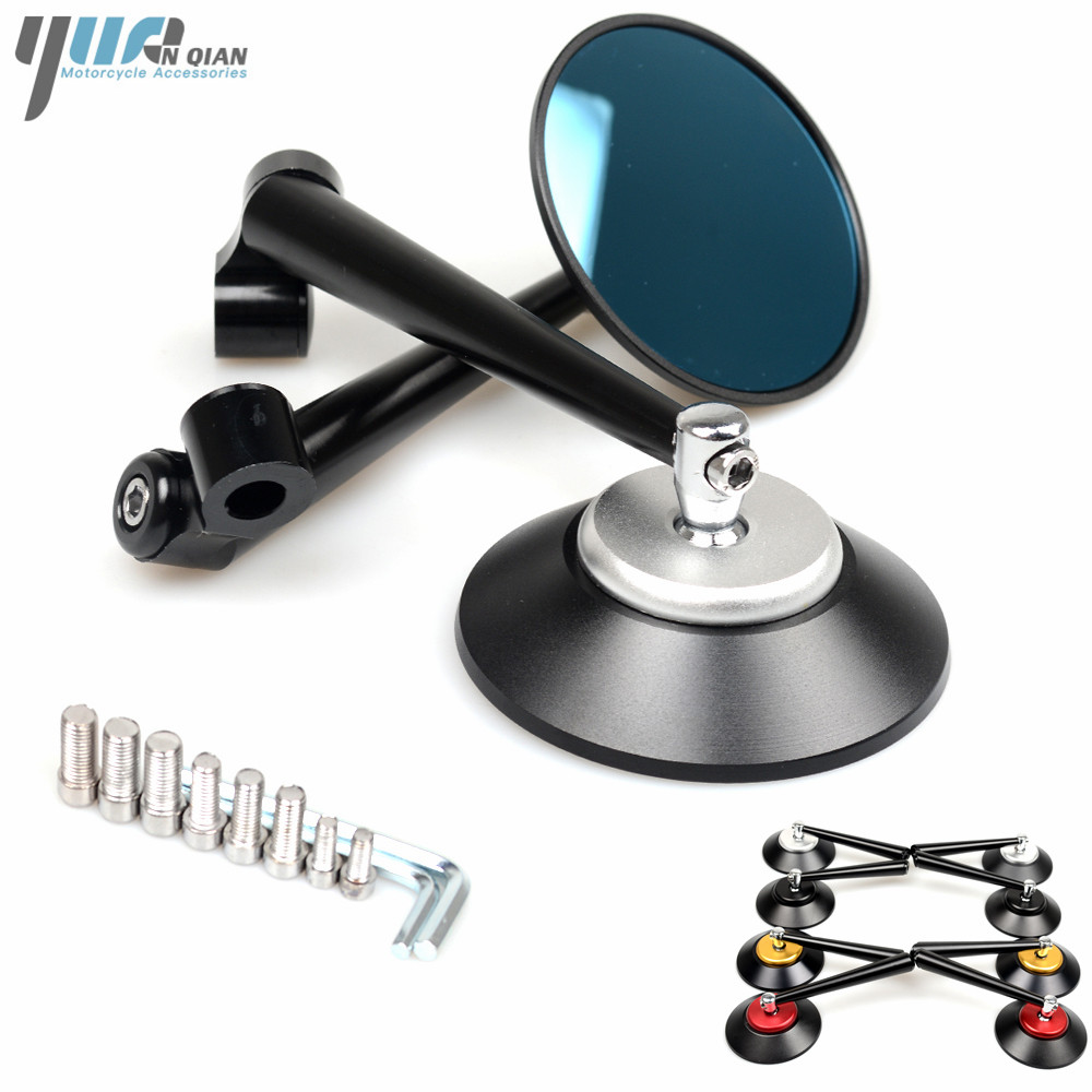 For Ducati Monster 400 600 900 1000 1100 1098 1198 1099 1199 Universal Round Motorbike Parts Motorcycle Mirror Rear Side Mirror