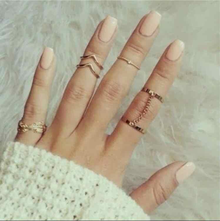 Anel feminino meninas ouro prata retro moda jóias tendência presente vintage anel conjunto combinação boho 2019 novo
