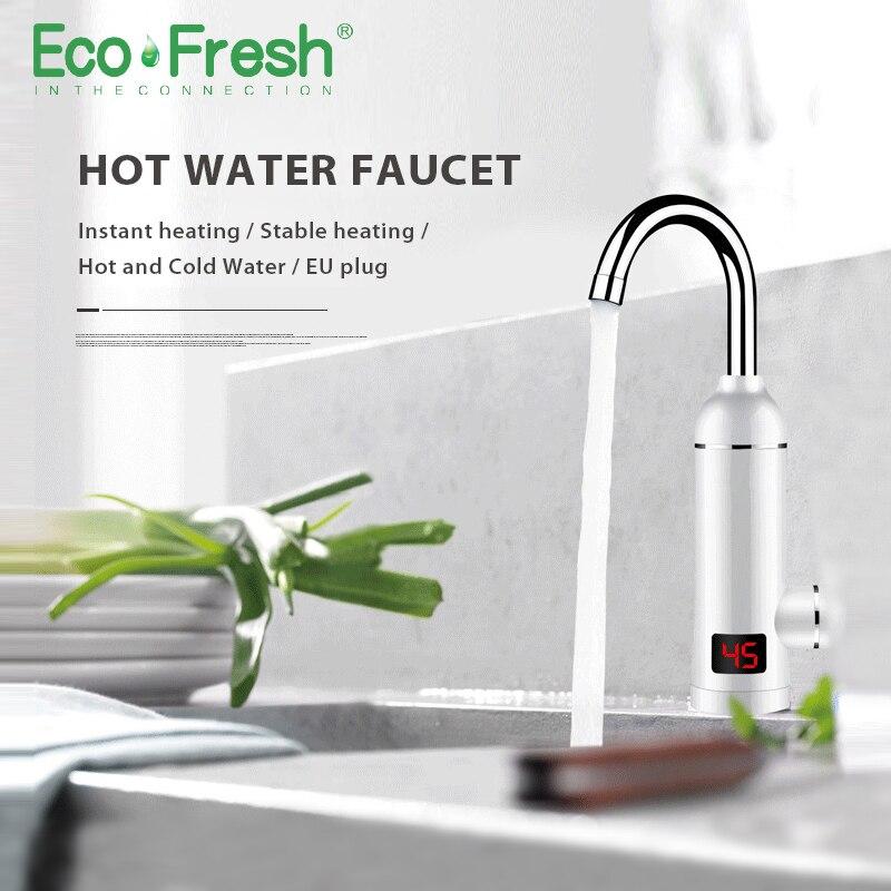 Ecofresh Instantânea Aquecedor de Água Quente Da Torneira Rápido Instantânea Termostato para Aquecedor De Água Elétrico 3000 w Indicação de Temperatura Torneira