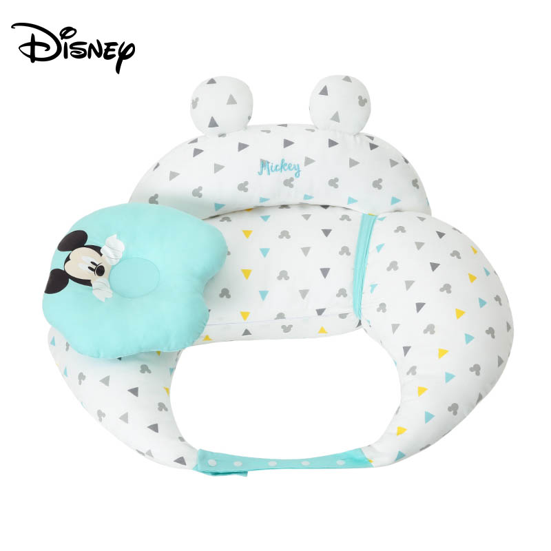 Disney Mickey Feeding Artifact Breastfeeding Pillow Belt Seat Pillow Anti-Swelling Milk Chair Support Pillow