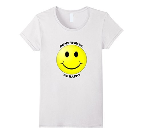 45eafd47 Don't Worry Be Happy Smiling Emoji T Shirt Novelty Tops Short Sleeve Tees  Brand Women'S T-Shirt Kawaii Tops Game Shirt