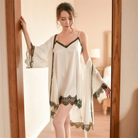 Sexy Lingerie New Women Lace Nightdress Chemise Adjustable Nightdress Dress Sleepwear Underwear Nightgown Robe AD0489