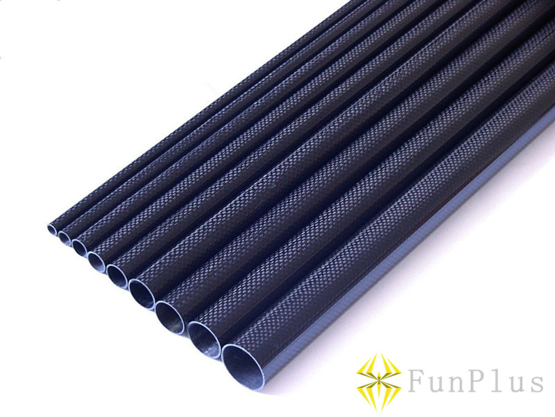 цена на 4pcs OD 25mm X ID 23mm X 500mm 3K Pure Carbon Fiber Tube 25 X 23 X 500mm Tubes Twill Matte Tail Boom Quadcopter Arms