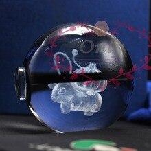 Popular magic 3D Pokemon Go Bulbasaur Ball with Led Light Base for kids surprise gifts