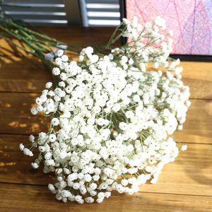 Image 5 - 90 Heads Artificial  Flowers  False Babys Breath Gypsophila Wedding Decoration Birthday DIY Photo Props Flower Heads Branch
