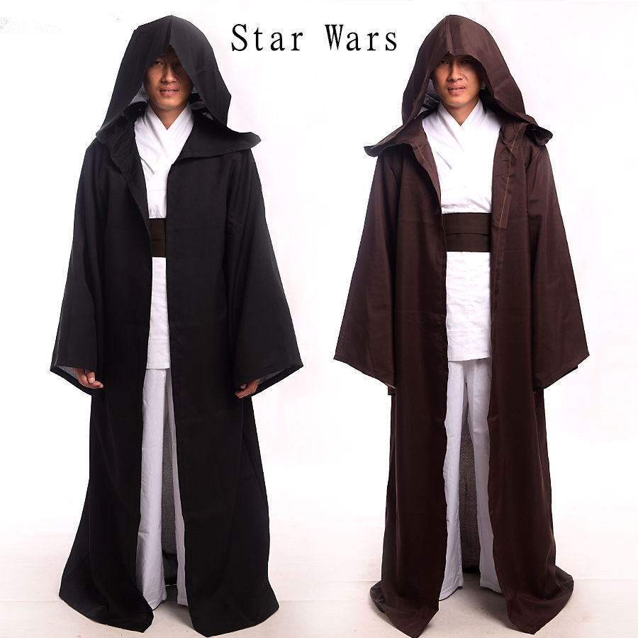 Voksne / Barn STAR WARS JEDI SITH Hooded Cape Cloak Kostyme Halloween - Kostymer