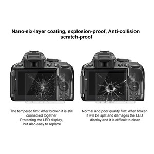 Image 5 - Szkło ochronne na Nikon D5300 D5500 D5600 ochronne szkło hartowane na ekran odporna na zarysowania folia o wysokiej rozdzielczości Clear Glas 9H