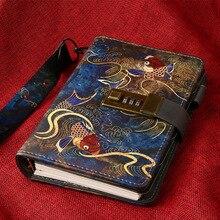 Kawaii A6 Notebook e Riviste Sprial Dellannata Nota Libro di Lusso FAI DA TE Agenda Planner Organizzatore Diario di Viaggio Notepad con Serratura Regalo