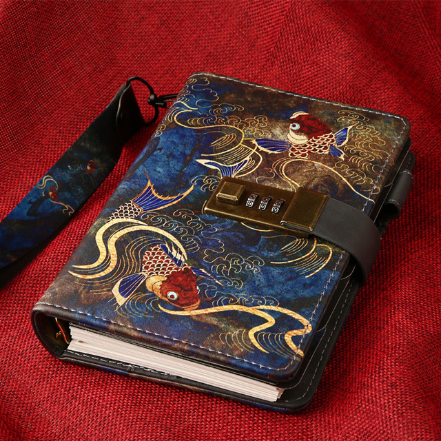 Kawaii A6โน้ตบุ๊คและวารสารSPIRAL Vintage Note Book Luxury DIY Agenda Planner Organizer Diary Travel Notepadล็อคของขวัญ