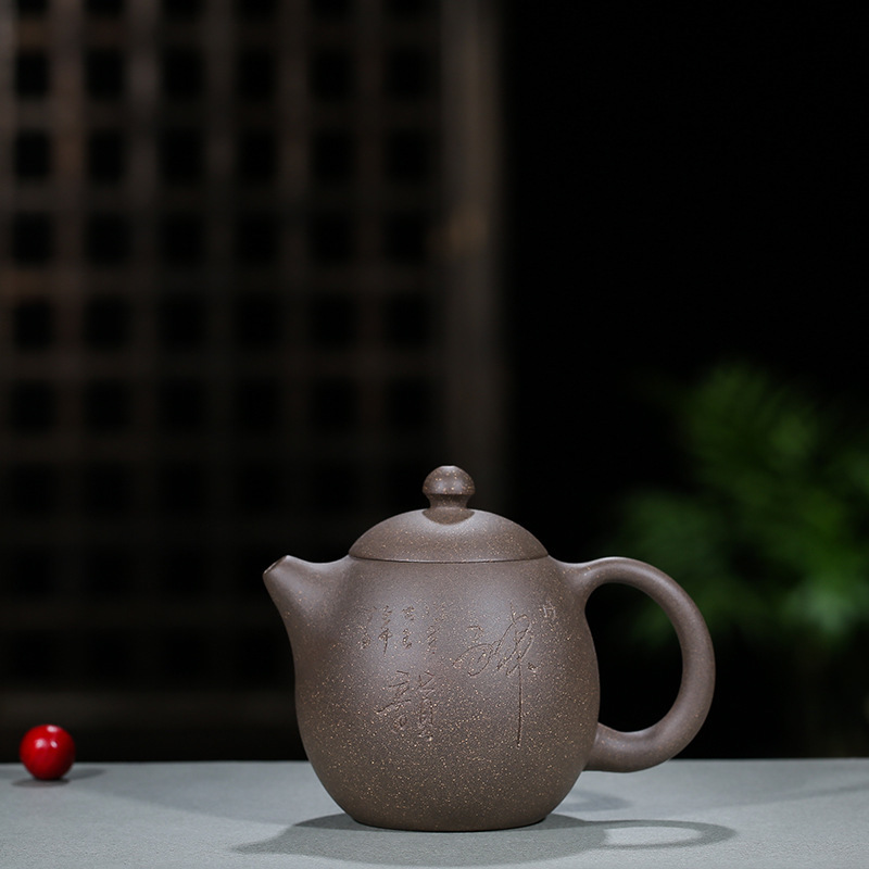 Sand Pot Wholesale Original Mine Green Ash Mud Dragon Egg Pot Genuine Yixing Handmade Teapot Kungfu Teaware Ball HoleSand Pot Wholesale Original Mine Green Ash Mud Dragon Egg Pot Genuine Yixing Handmade Teapot Kungfu Teaware Ball Hole