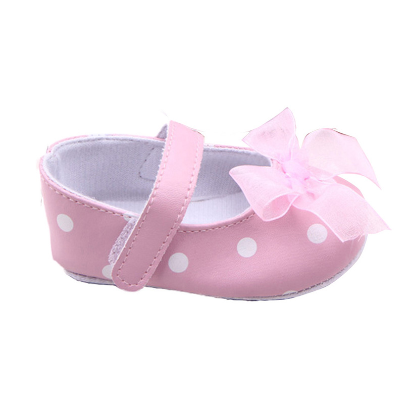Kids-Baby-Girls-Sweat-Polka-Dots-Printed-Shoes-PU-Leather-Bow-Decor-Princess-Shoes-1