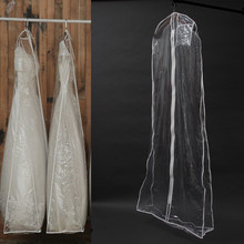 Transparent Solid For Wedding Dress Dust Cover Extra Large Waterproof PVC Clothing Garment Bags(China)