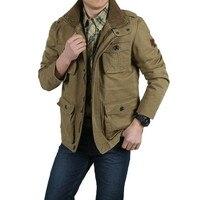 Plus Size M 8XL New Winter Denim Jacket Men Outdoors Casual 100 Cotton Parka Military Coat