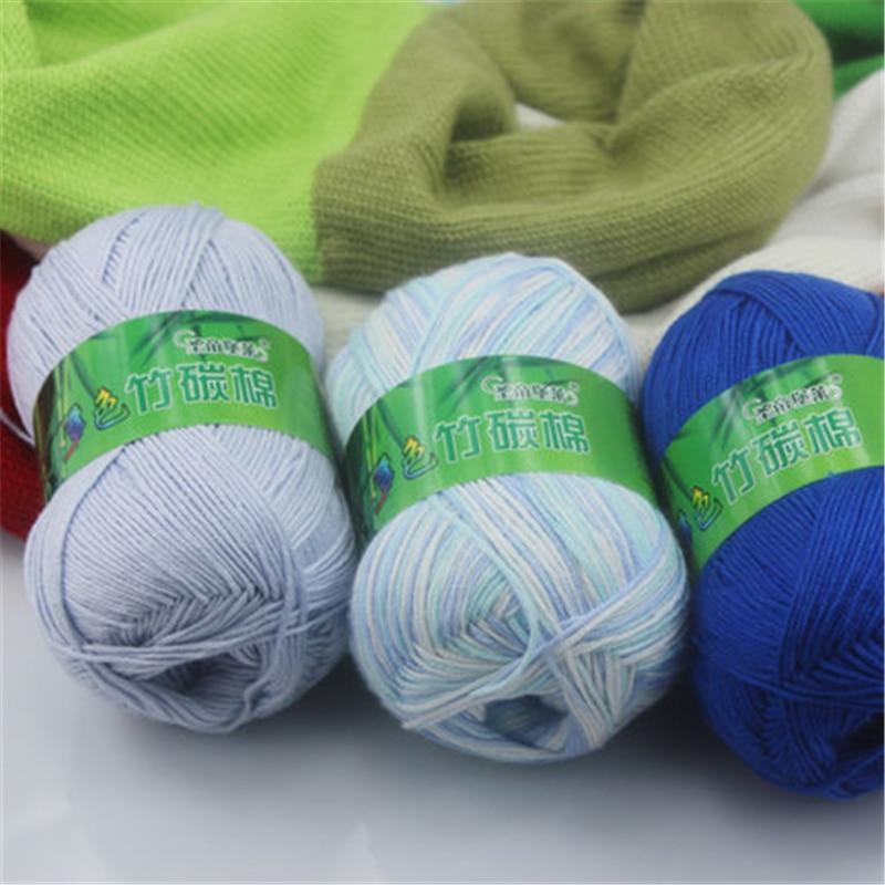 Knitting Yarn Aliexpress : G baby bamboo cotton crochet hand knitting yarn china